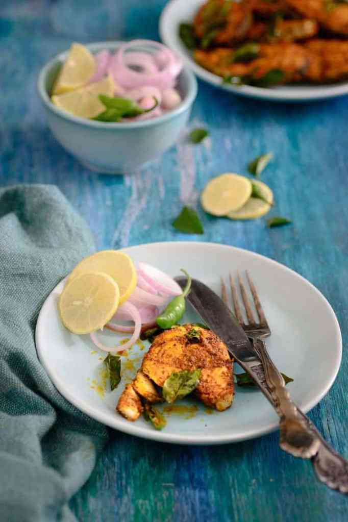 Andhra Style Spicy Fish Fry Recipe, How to make  Andhra Style Spicy Fish Fry