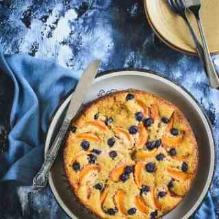 Whole Wheat Apricot Blueberry Cake