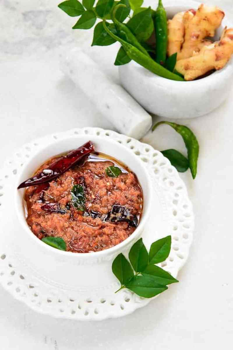 Puli Inji is Kerala style Ginger chutney. It is a part of Onam sadya. It has bold flavors from Ginger, jaggery and spices. Here is its recipe.