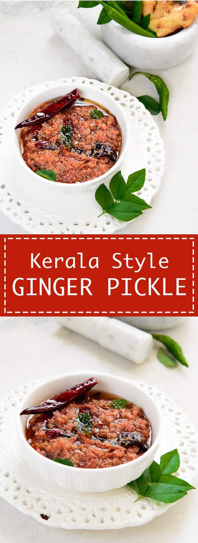 Puli Inji, Kerala Style Ginger Pickle