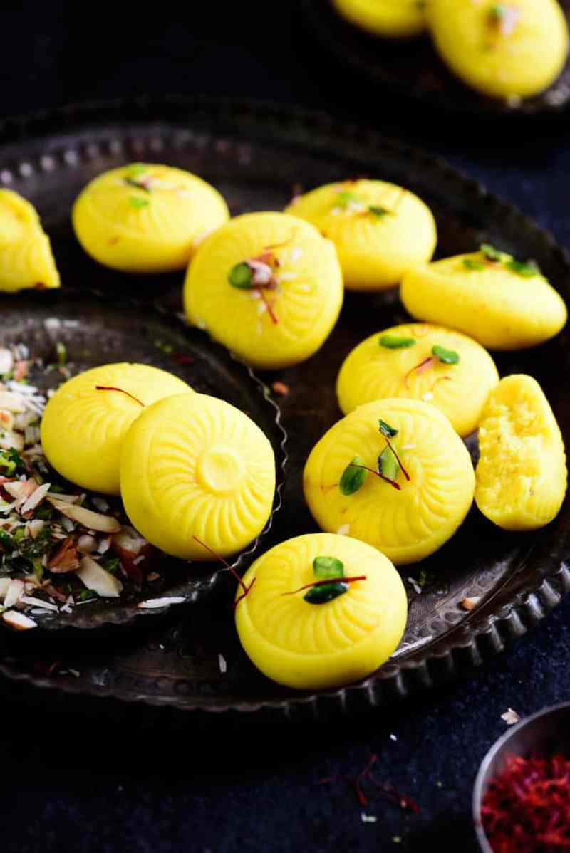 Kesar Malai Peda is a delicious and simple to make Indian sweet or dessert which can be easily made at home for festivals.