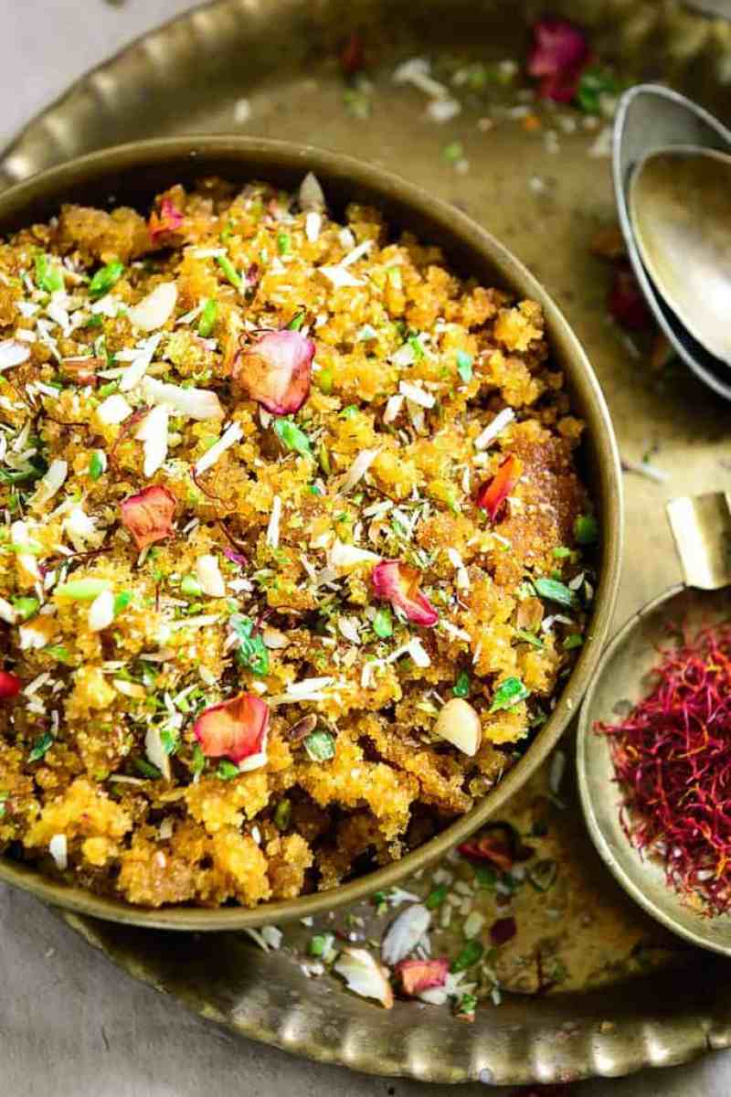Gur Ka Halwa is a tasty sweet dish made from jaggery and semolina. A traditional Indian dish, it is mostly prepared during the cold season and winters, as jaggery and ghee lend warmth to the body