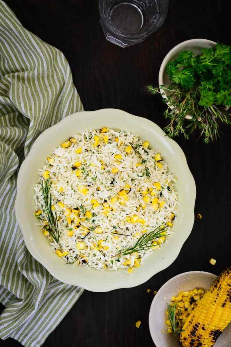 Roasted Corn And Herb Rice Is A Delicately Flavored Rice Dish, That Is Mild  And