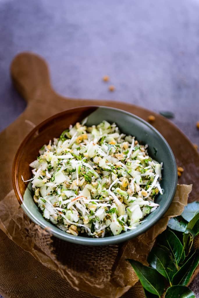 Khamang Kakdi Recipe, How to make Khamang Kakdi  or Kakdi chi Koshimbir