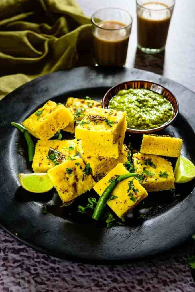 Moong Dal Dhokla is a popular Gujarati snack. Serve them with Adrak Wali Chai for breakfast and see how everyone loves savouring them!