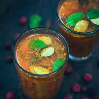 Phalse Tomato Soup is a delicious rasam kind of a drink made with tart Indian berries Phalse or Phalsa. Here is how to make it.