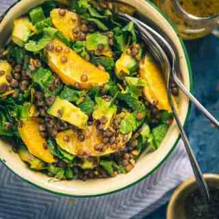 Avocado Lentil Salad is a tasteful accompaniment that brings in the best flavours of lentils as well as fresh greens. It can be eaten as it is as well!