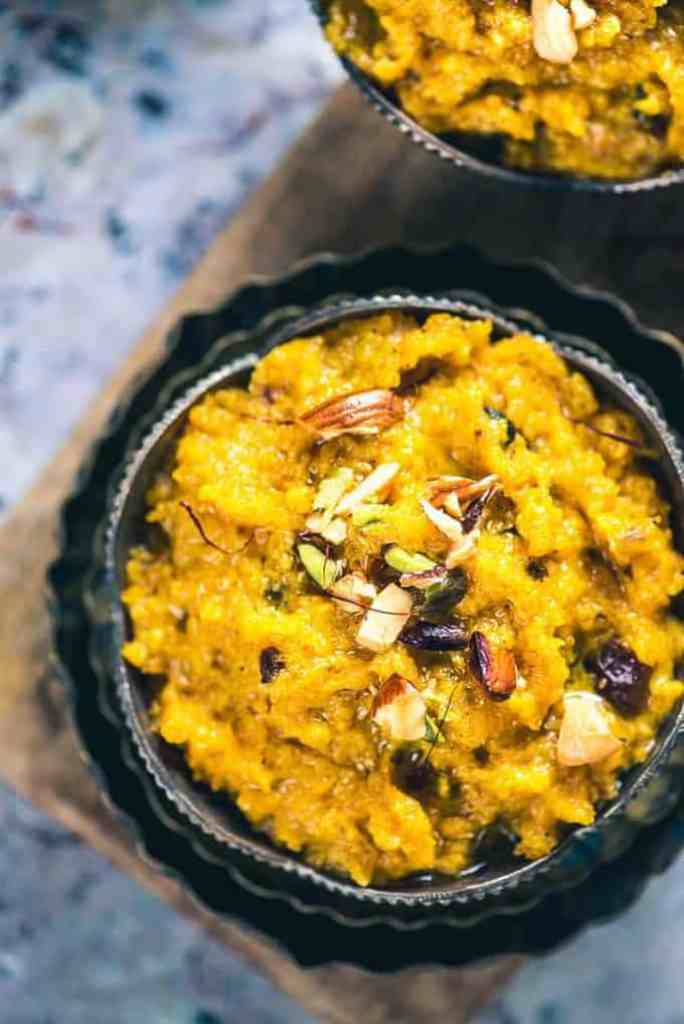 Kaddu Ka Halwa Recipe or Pumpkin Halwa is a unique vegetable-based dessert like Lauki ka Halwa which turns stupendously toothsome.