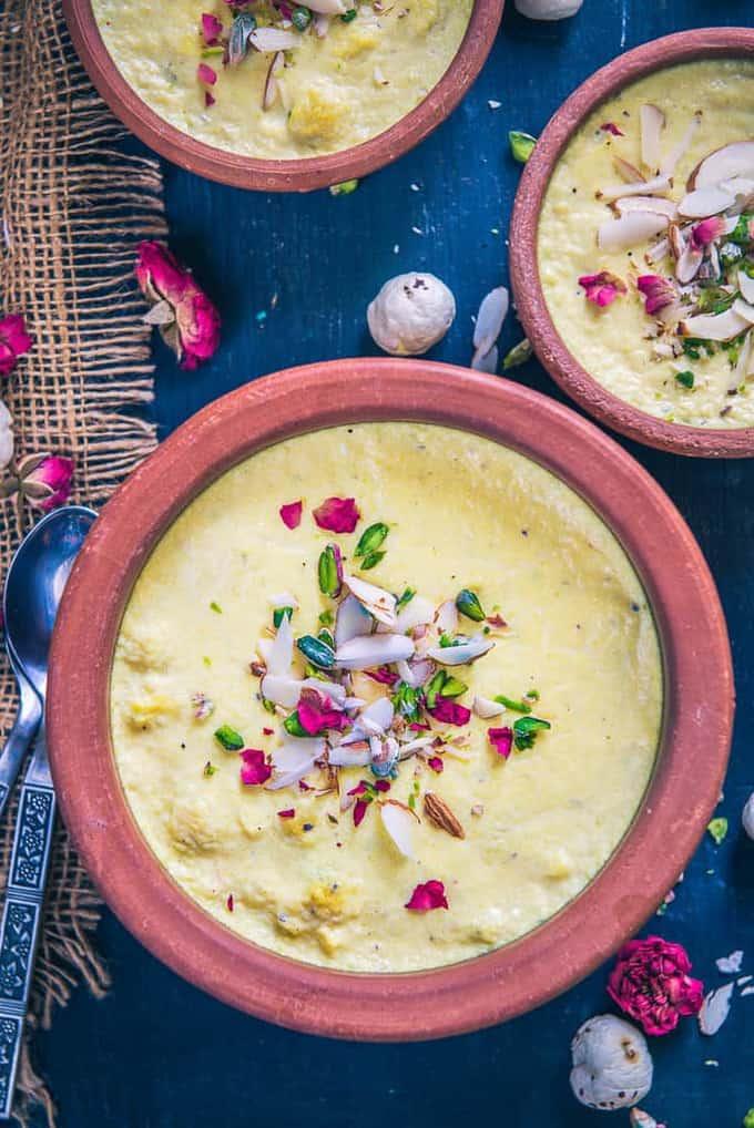 Kesar Makhana Phirni Recipe I Phirni Recipe