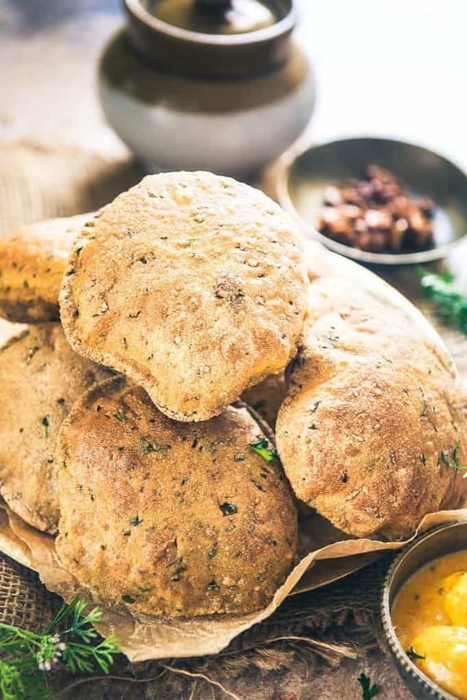 Bajra Methi Poori Recipe, How to make Bajra Methi Poori / Puri