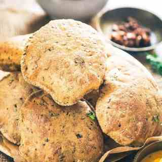 Bajra Methi Poori turns out to be a superb combination of bajra flour as well as fresh fenugreek leaves and it doesn't soak ample amount of oil as well.