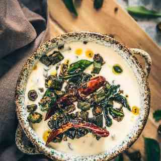 Bhindi Raita is a soothing accompaniment which has this beautiful fusion of crisp bhindi, chilli which is then mixed up with fresh curd.