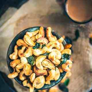 A bowl full of cashew nuts, toasted with ghee and just enough masala to satisfy that Indian soul of yours, this recipe of Spicy Masala Kaju is a keeper.