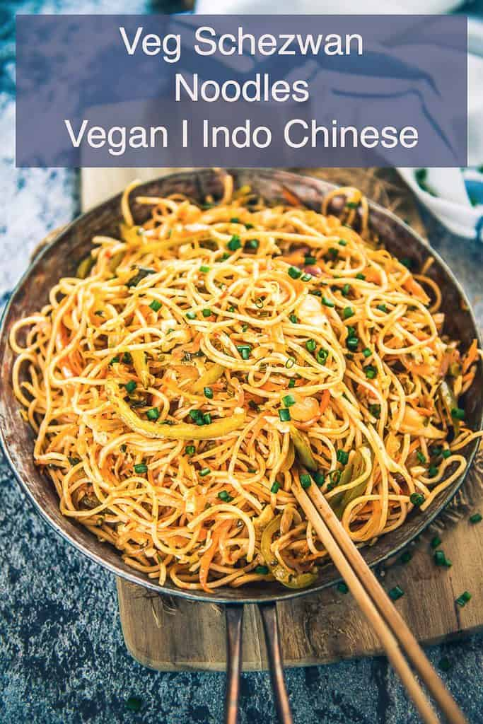 Veg Schezwan Noodles are easy to make at home and they pair well with nay Indo Chinese curries. You can have them as such also.
