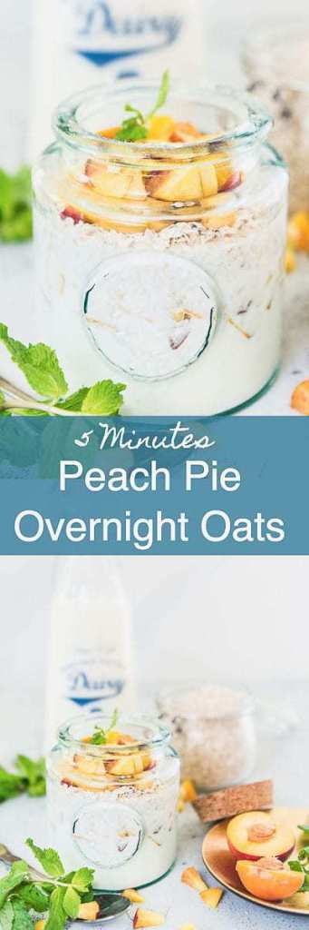Healthy, filling and with goodness of peach, honey and oats, this Peach Pie Overnight Oats Recipe checks all the box for a perfect start. And yes, it's delicious too. Breakfast I Overnight I Oats I Peach I recipe I easy I simple I best I perfect I quick i Yummy I delicious i Food I Photography i Styling I