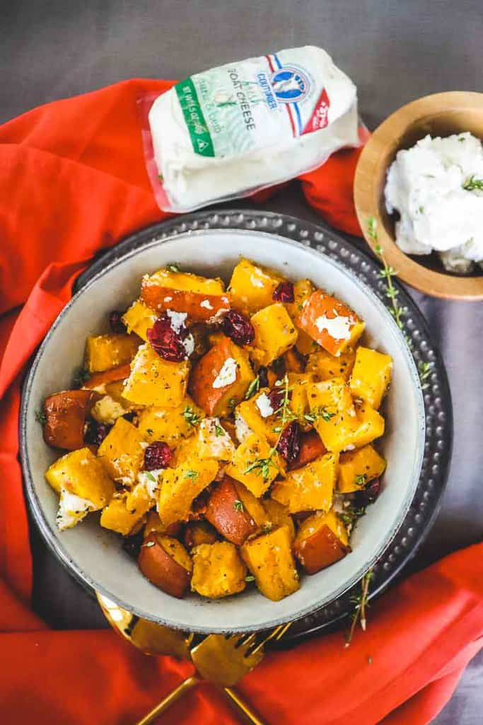 Pumpkin Cranberry Roast with Goat Cheese