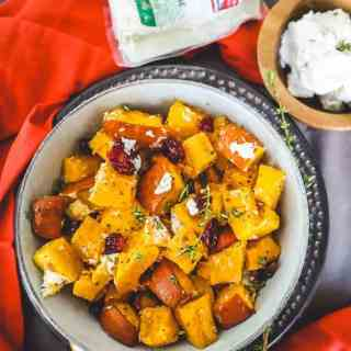A perfect recipe loaded with the fall specials - pumpkin and cranberry, Pumpkin Cranberry Roast with Goat Cheese is a soothing meal to count on this winter.