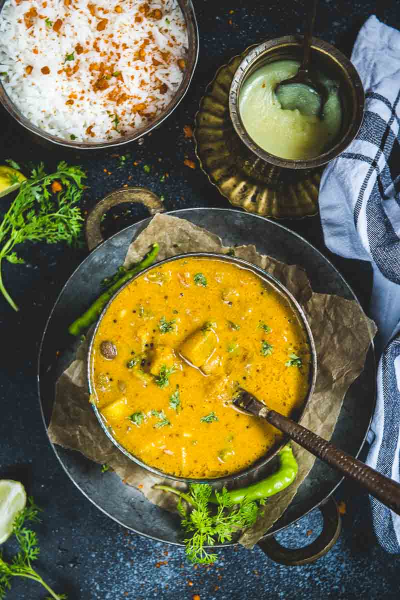Mix Vegetable Kootu is a simple, yet delicious dish that's made in most Tamil homes. It's a healthy South Indian dish that's specially made during the Pongal season; in fact, this simple dish is made for most festivals.