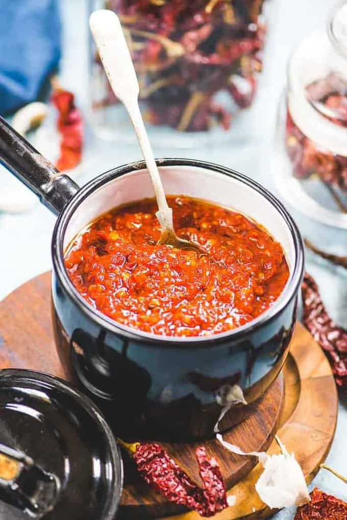 Homemade Schezwan Sauce Recipe ( Step By Step Video Recipe)
