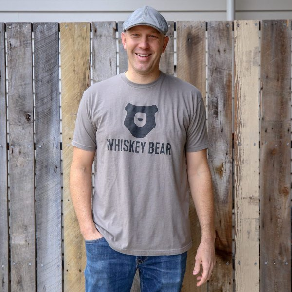 Whiskey Bear - Apparal - Mens - SS Tee - Warm Gray
