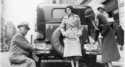 A picture of prohibition protest to repeal the 19th Amendment