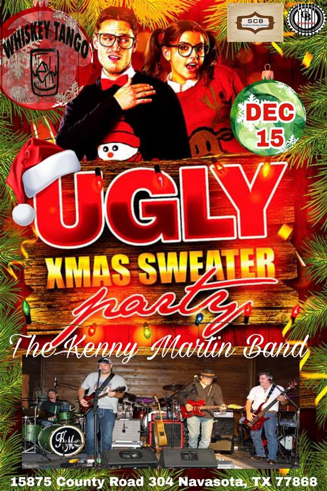 Ugly Xmas Sweater Party featuring The Kenny Martin Band LIVE!