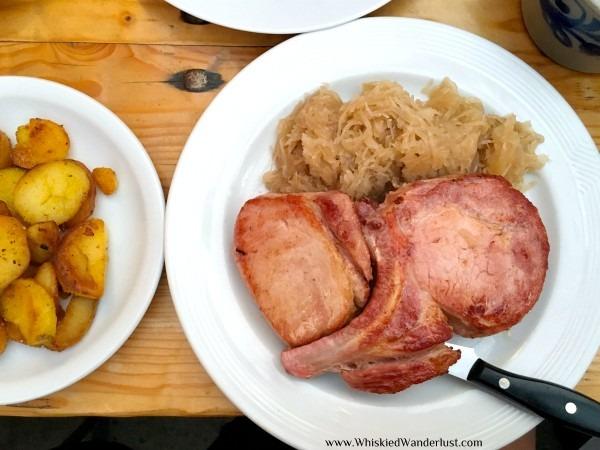 Rippchen mit Kraut and potatoes in Frankfurt.