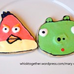 Angry Birds Cookies – Vanilla Almond Sugar Cookies