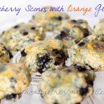 Blueberry Scones with Orange Glaze