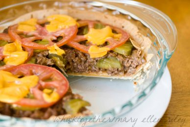 Cheeseburger Pie_5 on Whisk Together