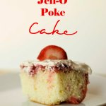 REAL Strawberry Jell-O Poke Cake