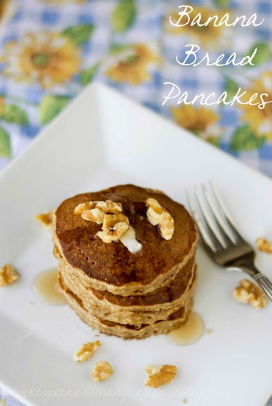 banana bread pancakes on Whisk Together