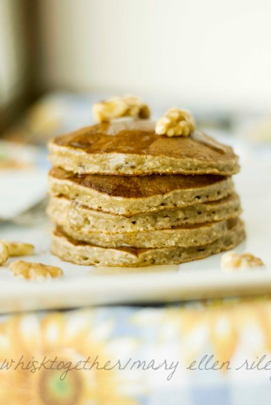 banana bread pancakes_3 on Whisk Together