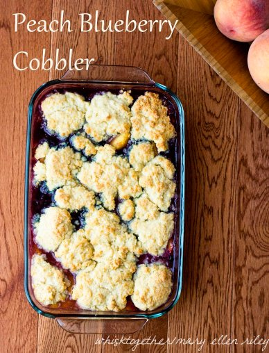 Peach Blueberry Cobbler on Whisk Together