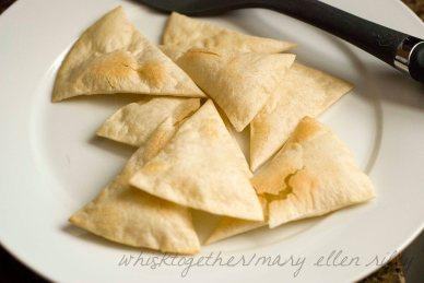 Baked Tortilla Chips on Whisk Together