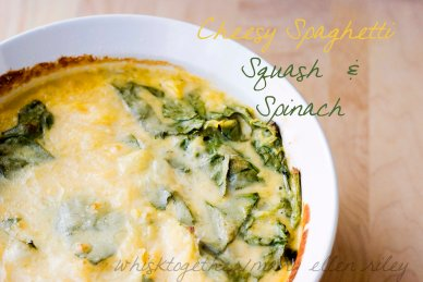 Cheesey Spaghetti Squash and Spinach on WT