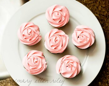 Rose Cupcakes on Whisk Together