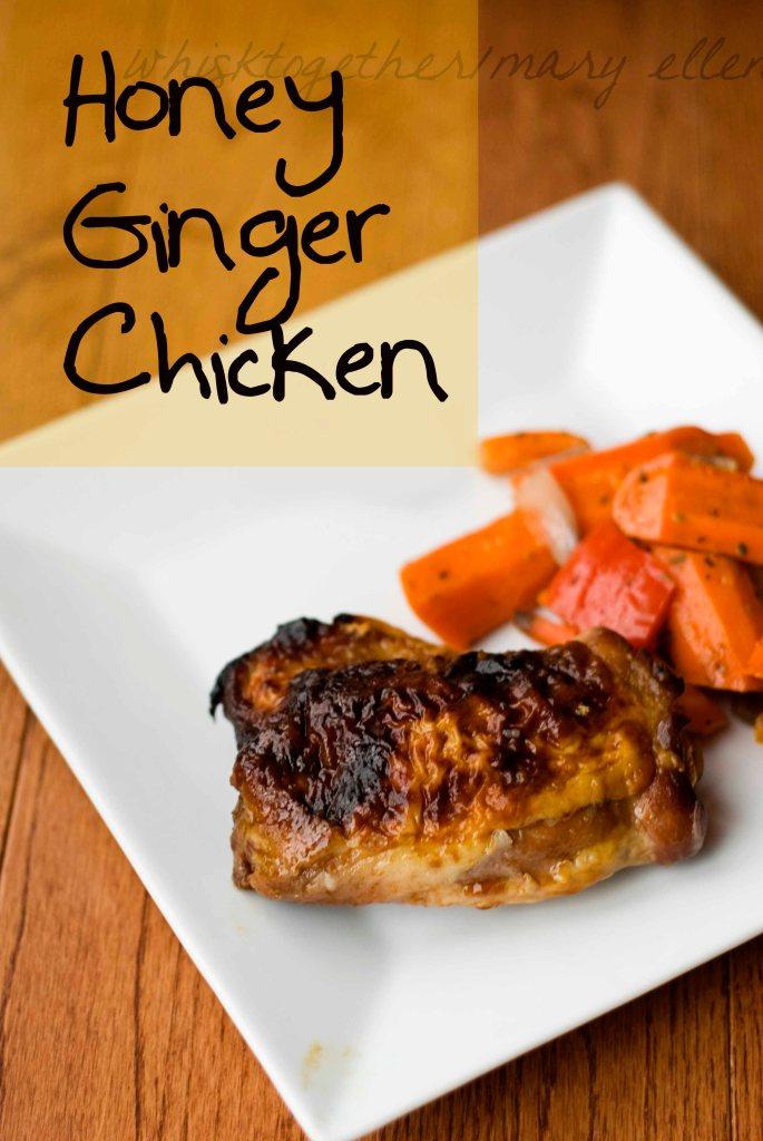 Honey Ginger Chicken_1 on Whisk Together
