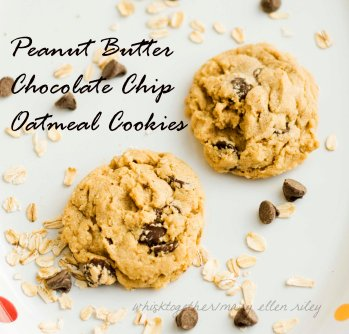 Peanut Butter Chocolate Chip Oatmeal Cookie_on Whisk Together