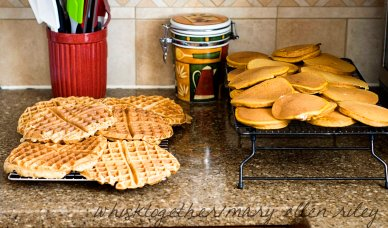 Freezing Waffles and Pancakes on Whisk Together