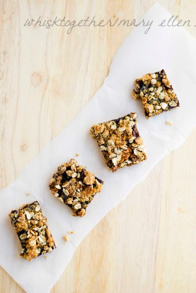 Oatmeal Jam Bars on Whisk Together