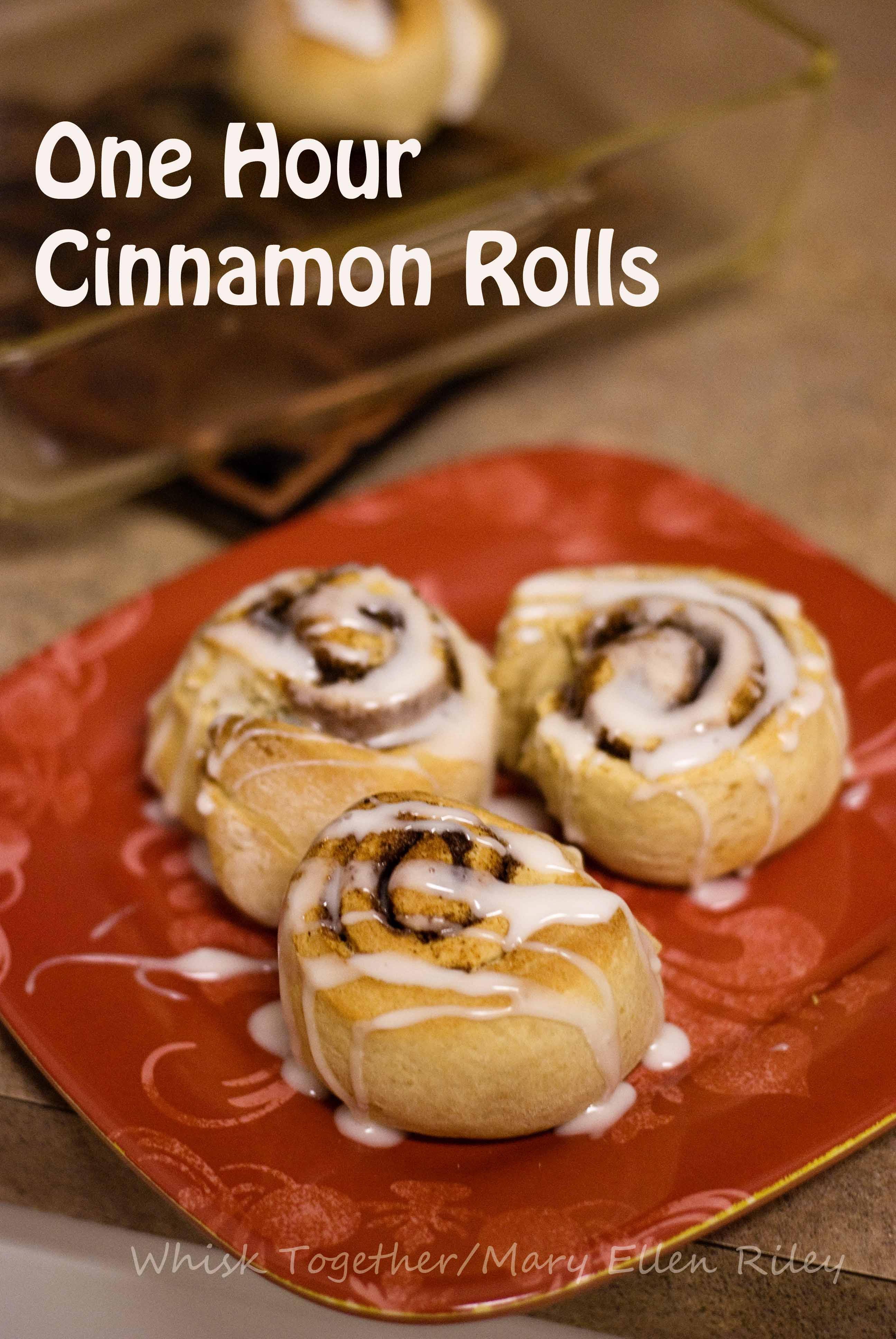One Hour Yeast Cinnamon Rolls_3 on Whisk Together