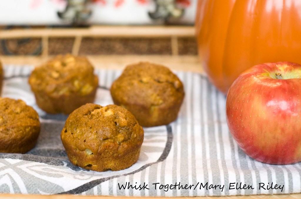 Apple Pumpkin Gingerbread Muffins on Whisk Together