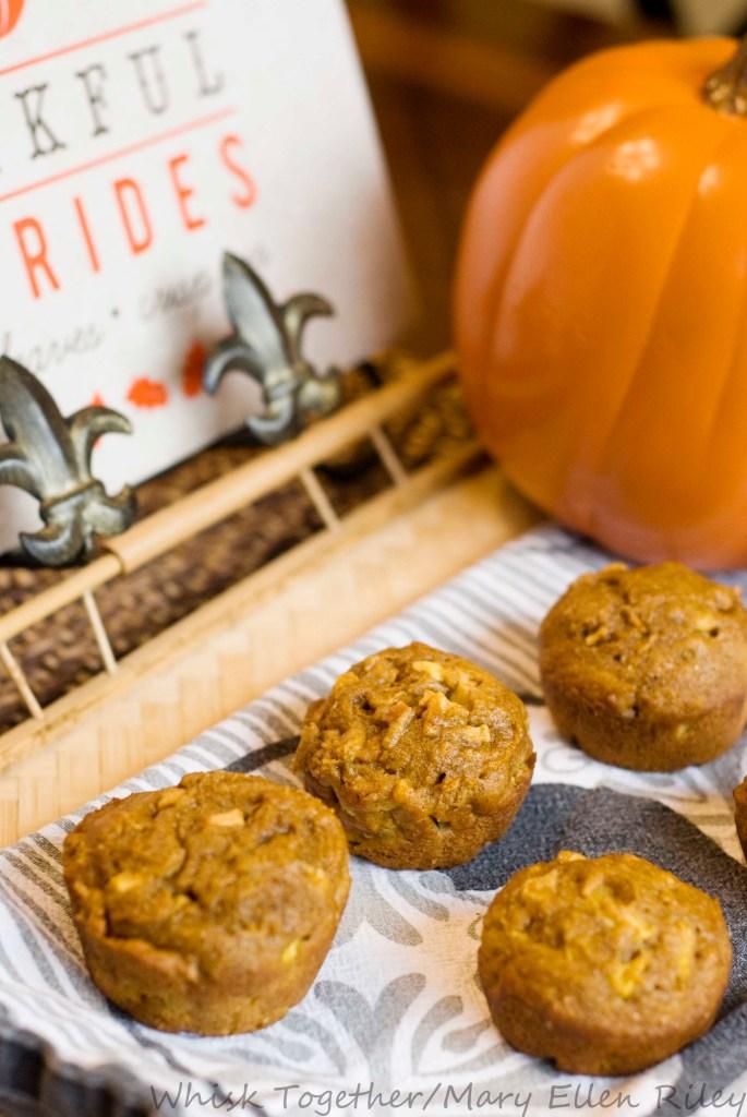 Apple Pumpkin Gingerbread Muffins_1 on Whisk Together