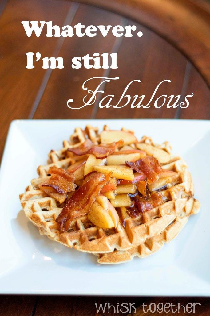Bacon and Apple Waffles_1 are Fabulous on Whisk Together