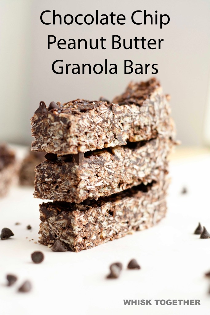 Choco Peanut Butter Granola Bars on Whisk Together