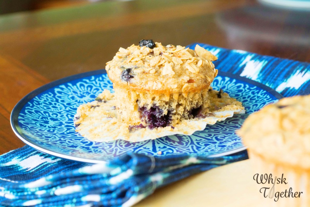 Granola Blueberry Muffins-2676 on Whisk Together
