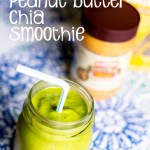 Green Peanut Butter Chia Smoothie