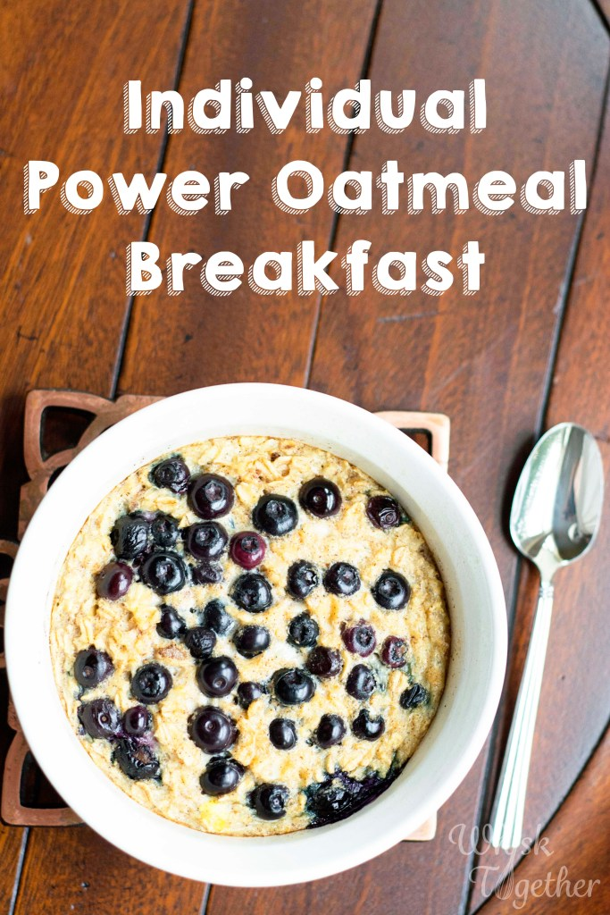 Individial Power Oatmeal on Whisk Together
