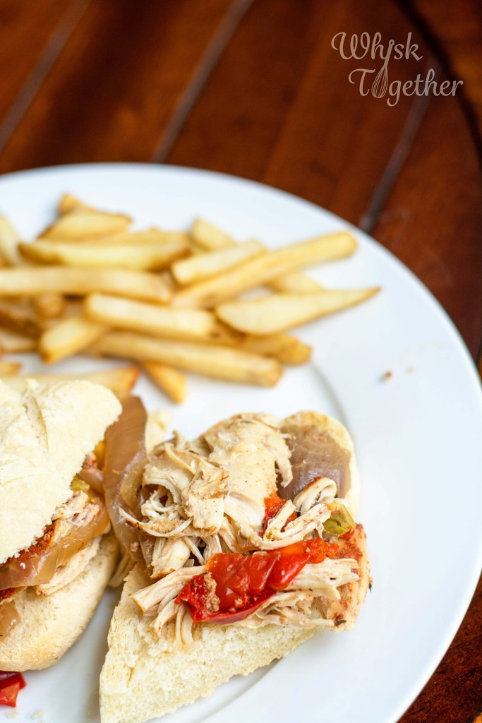 Slow Cooker Chicken Philly Cheesesteak-4522 on Whisk Together